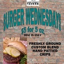 BURGER WEDNESDAYS - <p>5 oz burger with LTO and chips for $5. Dine in only. </p>